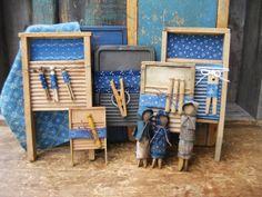 Little Scrub Boards all in Blue