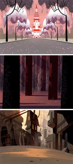 Samurai Jack background designer Scott Wills. There are some wonderful videos of him creating some of his artwork at the bottom.