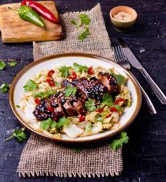 Pierś kaczki po azjatycku w miodowo-imbirowej marynacie #intermarche #kaczka #imbir Cobb Salad, Recipes, Food, Recipies, Essen, Meals, Ripped Recipes, Yemek, Cooking Recipes