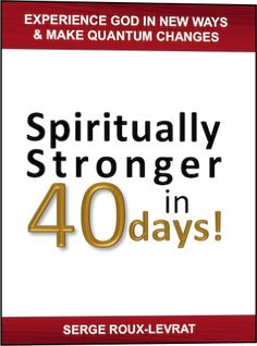 """Spiritually stronger in 40 days!"" contains a 40-day plan that is so powerful, yet so simple, that everybody can go through it. Big achievements are always accomplished little by little. The world is changed one life at a time."