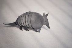 Armadillo Brooch. Natural black recycled leather by Uczarczyk, $25.00