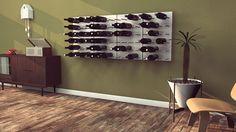 Bijzonder wijnrek in interieur