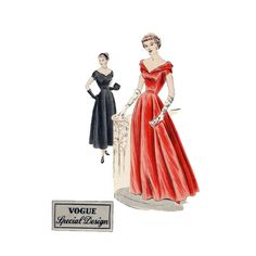 1940s Evening Gown Pattern Vogue Special by TuffyGirlVintage, $110.00 Pinned by WhatnotGems