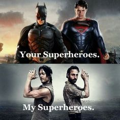 The Walking Dead - My Superheros.  But where's Carol and Michonne???  :(