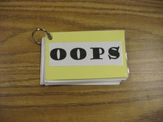 Oops book - behavior management idea