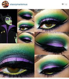 Malificent makeup, I think I'll do this next halloween :)