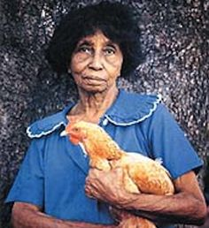 Clementine Hunter (December 27, 1886 - January 1, 1988) was a self-taught African American folk artist from the Cane River region in Louisiana.  She worked as a farm hand, never learning to read or write. She began painting in her fifties, using brushes and paints left by an artist who visited Melrose Plantation, where she lived and worked. Hunter's artwork depicted plantation life in the early 20th century, documenting a bygone era.  #TodayInBlackHistory