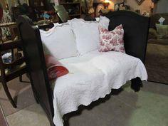 Repurposed Crib Settee, Vendor #300 --- $239    ... ROCKIN B ANTIQUES ... Newnan, GA    ... Questions??? Call >>> (770) 253-8730