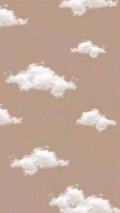 Aesthetic beige cloud wallpaper ~ Credits to Original Owner ♡~ Iphone Wallpaper Tumblr Aesthetic, Aesthetic Pastel Wallpaper, Tumblr Wallpaper, Aesthetic Backgrounds, Cartoon Wallpaper, Aesthetic Wallpapers, Hipster Wallpaper, Cute Ipad Wallpaper, Wallpaper Iphone Vintage