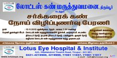 Lotus Eye Hospital conducts World Diabets rally Day on 13-Nov-2013 @ Tirupur