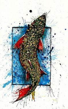 Ryan Keene.  Brook Trout Fly Fishing Artwork