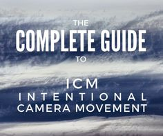 Intentional Camera Movement ICM is a creative way of working with long exposure photography and it implies deliberately moving the camera during an exposure