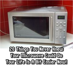 20 Things You Never Knew Your Microwave Could Do. The Idea King - Microwaves - Ideas of Microwaves - 20 Things You Never Knew Your Microwave Could Do. The Idea King Diy Cleaning Products, Cleaning Hacks, Cleaning Solutions, Micro Onde, You Never, Things To Know, Housekeeping, Clean House, Good To Know