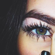 bold brows + big lashes