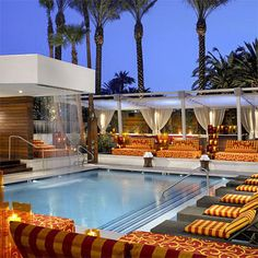 I like the idea of having lots of lounge space around the pool and even in the water like a resort
