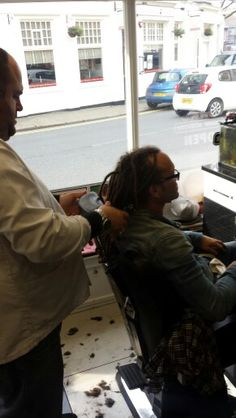 Uncle Bad Touch getting a Turkish from Brighton's best Turkish Barber Shop