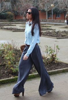 palazzo style soft jeans