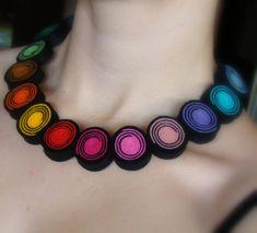felt necklace from Ifffka by DaWanda.com