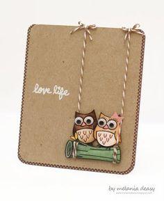 """Suave tarjeta con mucho """"espacio en blanco"""", un diseño equilibrado y muy original. Perfecta para una pareja, recién casados..."""