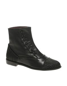 F-Troupe Victorian Button Leather Chelsea Boots