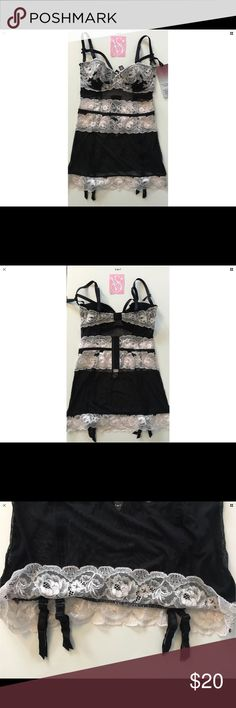 Victoria's Secret Lace Garter Corset Lingerie 34C New with defects   Garter size - 34C No trades!!! No free shipping!!! No holds!!! PRICE IS FIRM Victoria's Secret Intimates & Sleepwear Chemises & Slips