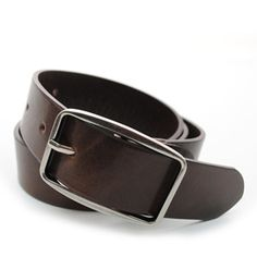 (JPB017-DARKBROWN) Casual Leather Belt from W28 to W38