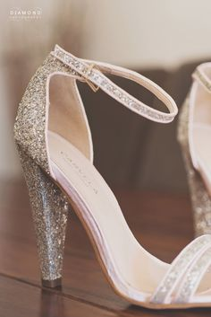 Stephanie's amazing shoes for her wedding at Headlam Hall