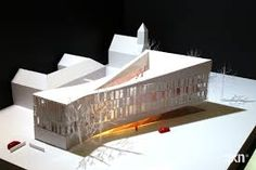 The Courthouse in Frederiksberg, Denmark by maquette, architectural model, maqueta, modulo Concept Architecture, Facade Architecture, Chinese Architecture, Planer Layout, Win Competitions, Arch Model, Famous Architects, Design Model, House