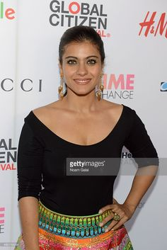 Bollywood actress Kajol Devgan attends the 2015 Global Citizen Festival to end extreme poverty by 2030 in Central Park on (September in New York City. Best Actress In India, Beautiful Indian Actress, Indian Bollywood Actress, Bollywood Fashion, Hot Actresses, Indian Actresses, Kajol Saree, Shahrukh Khan And Kajol, Global Citizen Festival