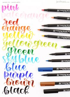 The felt tips of the Sakura Koi Color Brush Pens are durable and spring back quickly to its original shape, perfect for brush lettering!