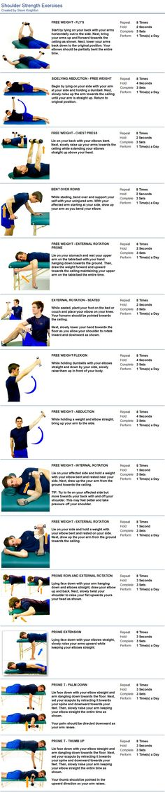 #rotator cuff exercises SHOULDER STRENGTH EXERCISES Nova Therapy Massage London, Personal Training & Nutrition Your Health and Wellness are our Team's Top Priority http://www.novatherapy.co.uk/personal-training/ Shoulder Tendonitis Exercises, Rotator Cuff Injury Exercises, Rotator Cuff Impingement, Rotator Cuff Strengthening, Shoulder Mobility Exercises, Bursitis Shoulder, Rotator Cuff Rehab, Shoulder Stretches, Shoulder Injuries