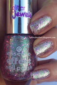 Swatch Essence effect nail polish 03 Glitz & glam - pic doesn't do it justice, this color is SPECTACULAR!
