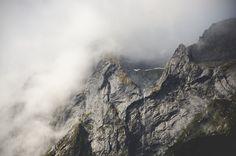Rocky Mountains, Foggy, Fog, Nature, Landscape