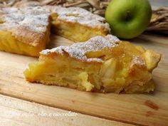 La Torta di Mele,è in assoluto,il mio dolce preferito!!! Questa in realtà,non è la classica Torta di mele sofficiosa come se fosse una mousse