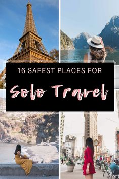 Wondering where to go by yourself? Here are some of the safest places to travel alone as a female solo traveler. When I first started traveling back in I couldn't always find friends to travel with me since I had way more vacation time… Solo Travel Tips, Travel Advice, Travel Hacks, Travel Goals, Instagram Inspiration, Travel Inspiration, Palawan, Cool Places To Visit, Places To Go