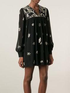 Saint Laurent Embroidered Tunic Dress - Russo Capri - Farfetch.com