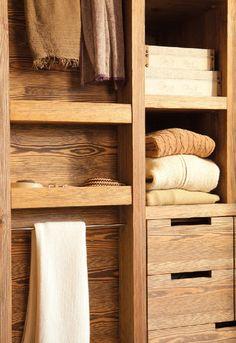 Wood Storage Shelves au natural