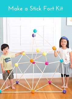 Encourage building skills and open-ended play with this easy and fun DIY stick fort for kids.