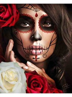 I don't celebrate dia de los muertos but I love this make-up