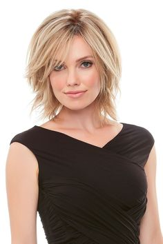 Top Form HH Designed to add gorgeous volume at the crown, this human hair topper integrates with your own hair for a natural look — it can even be styled with heat! Medium Hair Styles, Natural Hair Styles, Short Hair Styles, Short Hair With Layers, Short Hair Cuts, Medium Short Hair, Pixie Cuts, Choppy Bob Hairstyles, Black Hairstyles