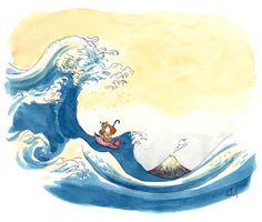 Ma vague d'Hokusai - Le blog d'Anne Montel                                                                                                                                                                                 Plus