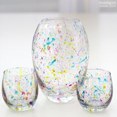 Tips for Painting On Glass | DIY Splatter Painted Glass Vases – Madigan Made