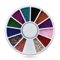 US $0.93 3D Tiny Caviar Nail Art Ball Beads,12colors Nail Tips Sticker Decoration For Acrylic UV Gel Nail Tool Beauty Nail Accessories