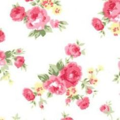 Rose & Hubble Cotton Poplin Large Floral in white