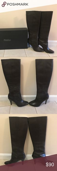 "Espresso Kenneth Cole 9•2•5 ""Talent Show"" boots Like New Leather Boots! Worn only a few times and still in excellent condition! Hits below the knee. Kenneth Cole Shoes Heeled Boots"