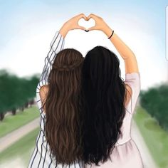 Funny quotes about friendship and drinking people ideas - Bff Pictures Best Friend Drawings, Girly Drawings, Cool Drawings, Bff Pics, Best Friend Pictures, Bff Pictures, Bff Images, Friends Sketch, Sarra Art