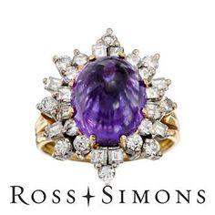 C. 1960 Vintage Amethyst and Diamond Ring