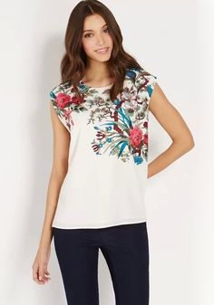 Multicolor Flowers Print Sleeveless Chiffon Blouse
