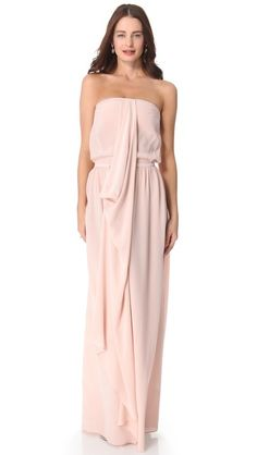 this could be really pretty and comfortable....Zimmermann Strapless Draped Maxi Dress
