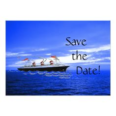 Cruise Ship Invitations Customized Cute Ship Wedding Cruise Save the Date Card